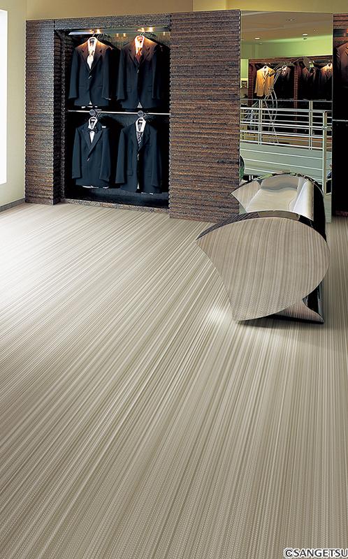 Sàn Vinyl cuộn vân thảm, ánh kim, đá thô